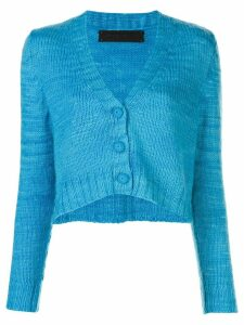 The Elder Statesman v-neck cropped cardigan - Blue