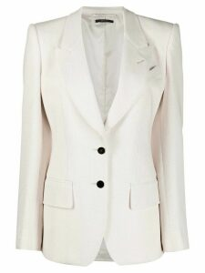 Tom Ford single breasted peak-lapel blazer - NEUTRALS