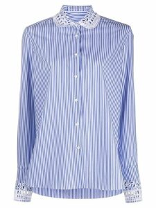 Ermanno Scervino broderie collar shirt - Blue