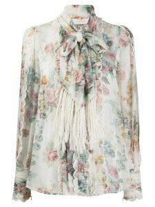 Zimmermann silk floral print blouse - NEUTRALS