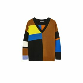 Chinti & Parker Multicoloured Modernity Cashmere V-neck Sweater