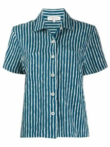 YMC striped organic cotton shirt - Blue