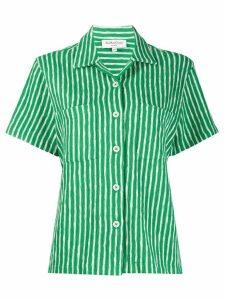 YMC striped organic cotton shirt - Green