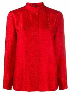 A.P.C. collarless long sleeved shirt - Red