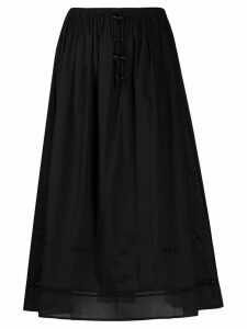 Tory Burch tie-waist skirt - Black
