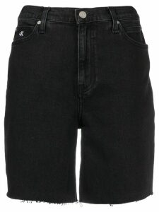 Calvin Klein Jeans high rise denim shorts - Black