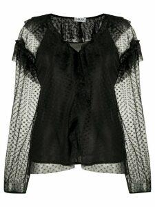 LIU JO sheer design blouse - Black