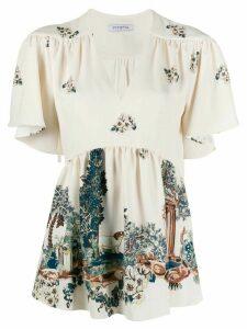 Vivetta floral print blouse - NEUTRALS