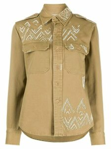 Polo Ralph Lauren sequin embroidered long sleeved shirt - Green