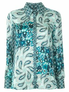 Elie Tahari Beck print-mix shirt - Blue