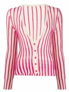 Jacquemus Le gilet Manosque striped cardigan - NEUTRALS