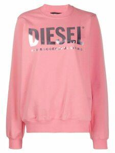 Diesel F-ang logo print sweatshirt - PINK