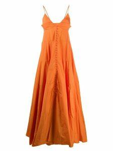 Jacquemus La robe Manosque long dress - ORANGE