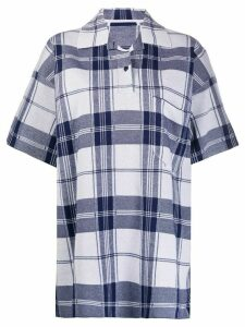Jacquemus Le polo Torchon oversized check shirt - White