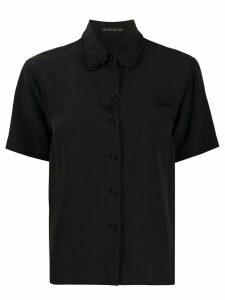 Etro frill-trimmed collar shirt - Black