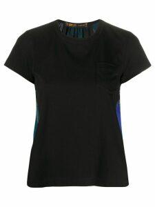 Sacai foliage print T-shirt - Black