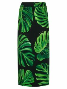 Dolce & Gabbana Philodendron print pencil skirt - Black