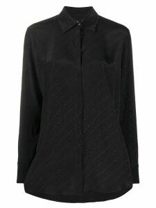 Victoria Victoria Beckham logo jacquard shirt - Black