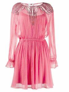Alberta Ferretti pleated mini dress - PINK