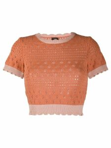 Pinko knitted crew neck top - ORANGE