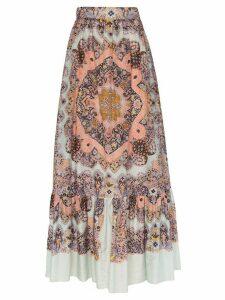 Etro paisley print maxi skirt - 250 MULTICOLOR
