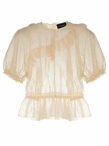 Simone Rocha ruffled blouse - NEUTRALS