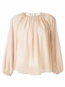 Tomorrowland pleated chiffon blouse - NEUTRALS