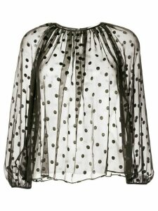 Tomorrowland polka-dot chiffon blouse - Black