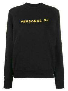 Kirin slogan print sweatshirt - Black