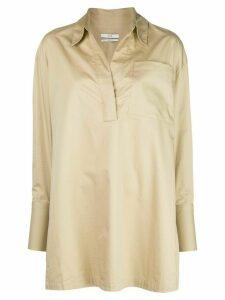 Co long-sleeved open-collar shirt - NEUTRALS