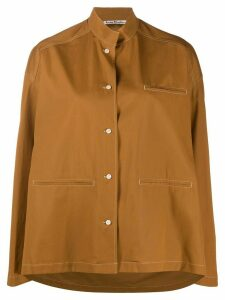 Acne Studios mandarin collar overshirt - Brown