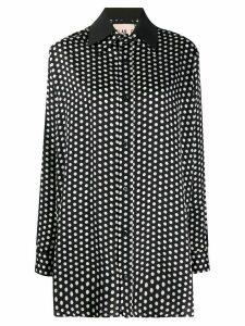 Plan C oversized fit polka dot shirt - Black