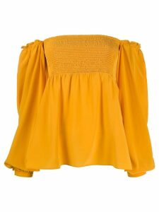 Dorothee Schumacher off-the-shoulder smocked top - Yellow