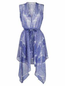 Etro paisley print wrap blouse - Blue