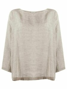 Forte Forte loose-fit linen blouse - Grey
