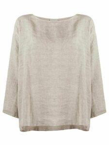 Forte Forte loose-fit linen blouse - Grey