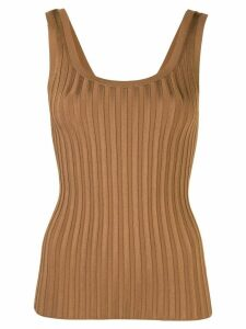Veronica Beard ribbed vest top - Brown