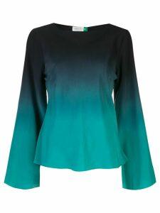 Rixo ombré bell sleeve blouse - Green