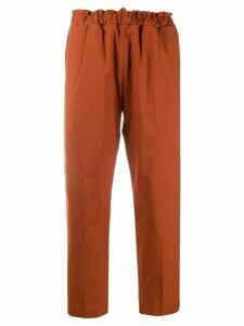 Nine In The Morning cropped straight-leg trousers - Brown