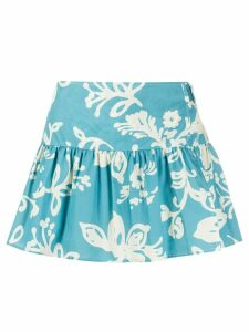 RedValentino Hawaii-print shorts - Blue