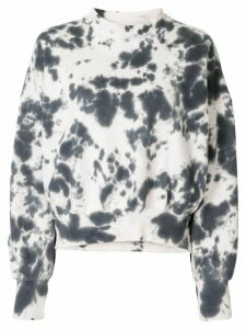 Bassike abstract print sweatshirt - White