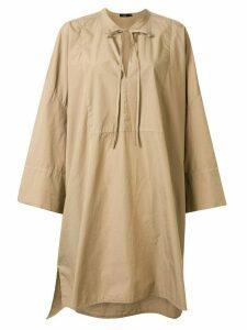 Bassike oversized shirt dress - Brown