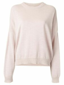 Bassike oversized long sleeve jumper - PINK