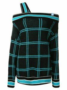 Maison Mihara Yasuhiro intarsia-knit off-the-shoulder jumper - Black