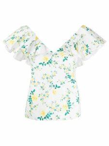 Philosophy Di Lorenzo Serafini ruffled floral-print blouse - White