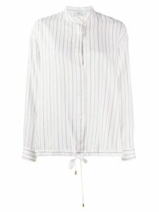 Peserico striped drawstring-hem blouse - White