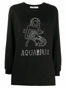 Alberta Ferretti Aquarius crystal embellished T-shirt - Black