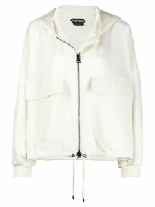Tom Ford oversize hooded jacket - White
