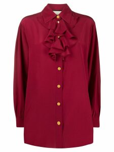 Gucci ruffle detail shirt - Red