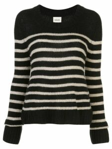 Khaite striped long-sleeve jumper - Black
